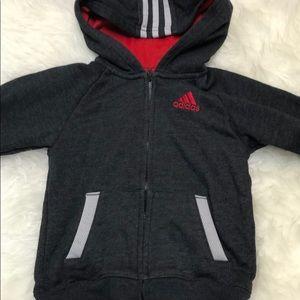Adidas hoodie 3 stripe classic